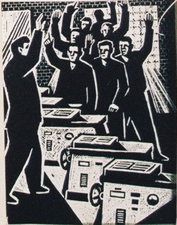 Aus Koch's Serie, Arbeitsleben in einem Produktionsbetrieb, 1960